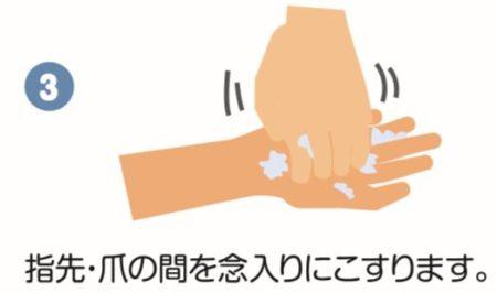 爪の間の洗い方
